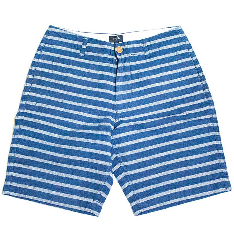ジェイクルー J.crew:Striped Linen Beach Short/ストライプリネンショーツ