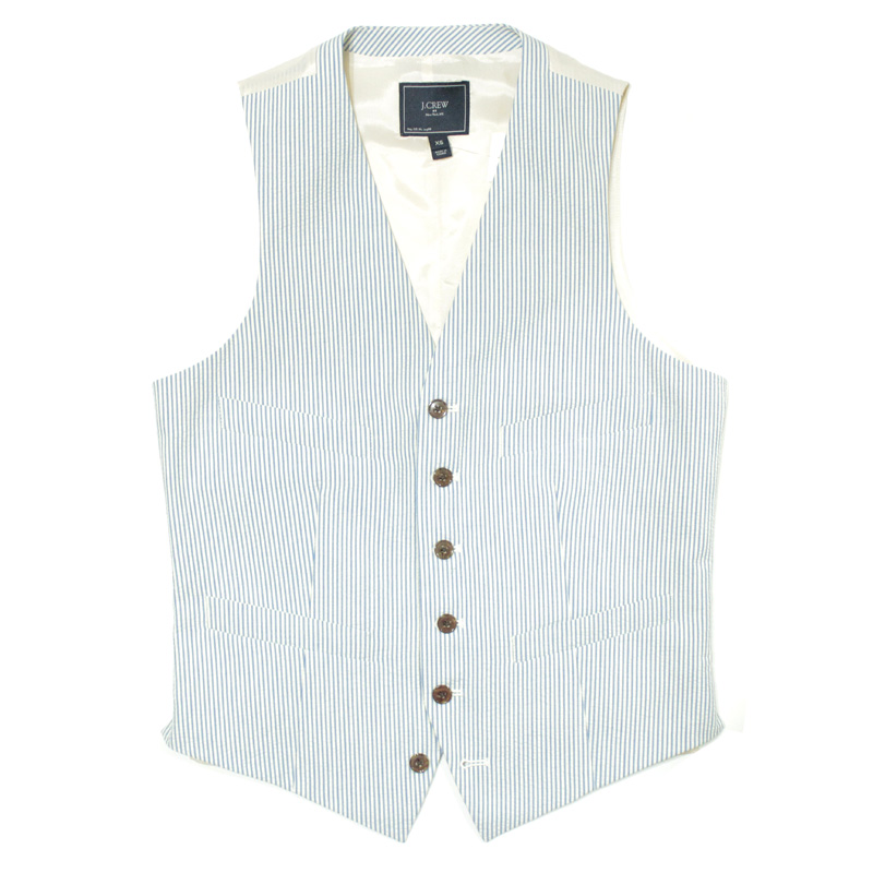 ジェイクルー J.crew:Thompson suit vest in seersucker/シアサッカーベスト