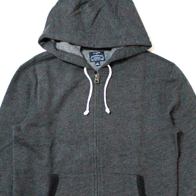 ジェイクルー J.crew:Fleece Full-zip Hoodie/フルジップパーカ Charcoal