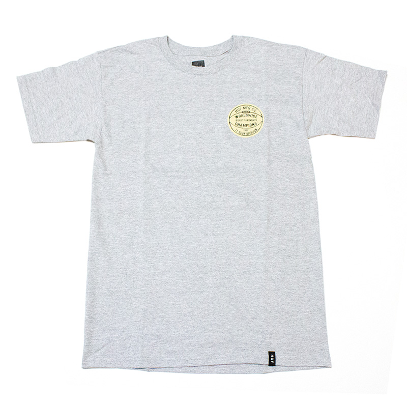 ハフ HUF:DIVISIONS CHAMPIONS TEE Gray/チャンピンTシャツ グレー