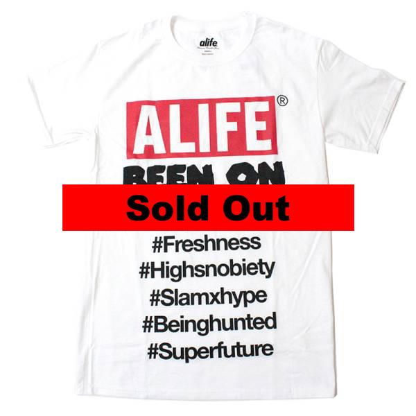 エーライフ Alife:Been On Box Tee White/ビーンオンボックスTシャツ