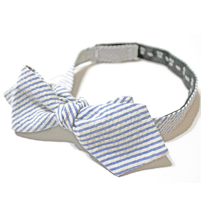 ジェイクルー J.crew:Seersucker Bow Tie/シアサッカーボウタイ