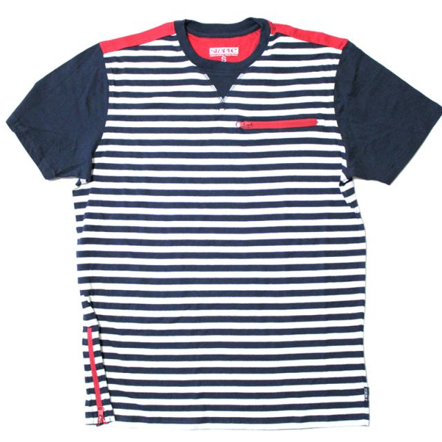 ステイプル Staple:Compass T-Shirt/ボーダーTシャツ