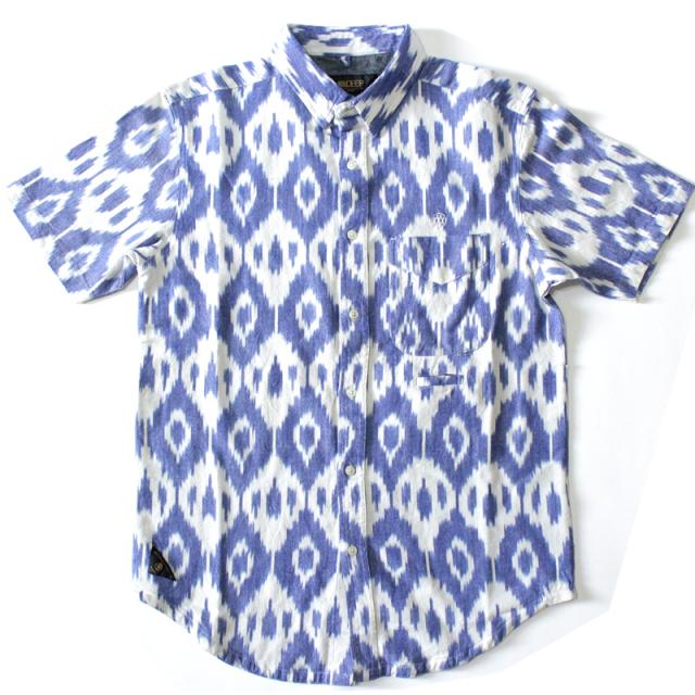 【10deep/テンディープ】 The Gaucho SS Buttondown in White/ガウチョボタンダウンシャツ