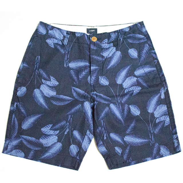 ジェイクルー J.crew:linen-cotton beach short in tropical leaves/トロピカルビーチショーツ