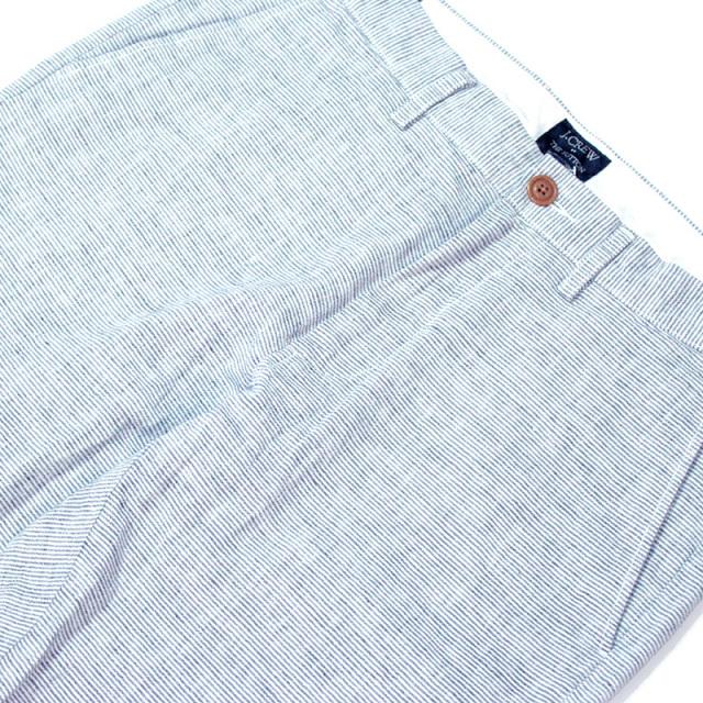 ジェイクルー J.crew:linen-cotton Sutton pant/ストライプリネンパンツ