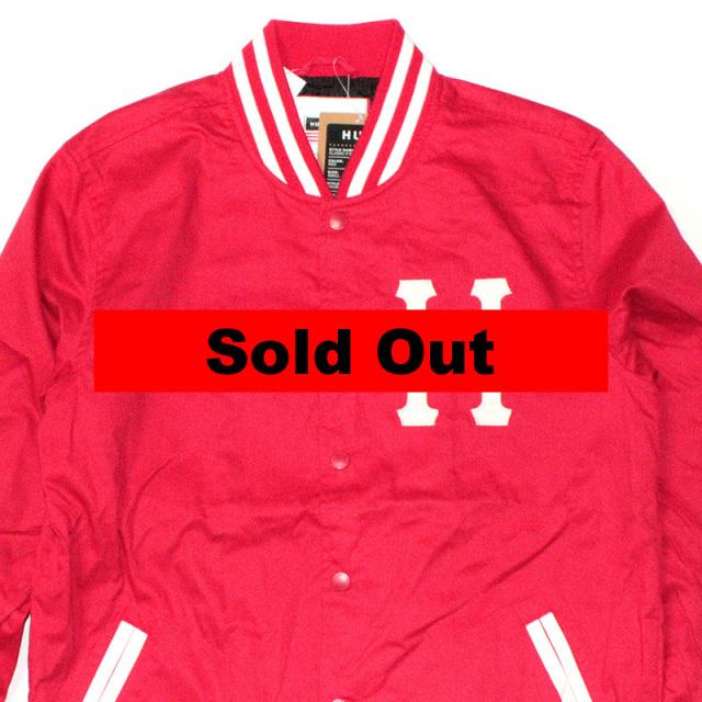 ハフ HUF:Classic H Varsity Jacket/バーシティージャケット RED