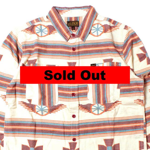 "【Loser Machine/ルーザーマシーン】 ""Seeley Long Sleeve Button Up Shirt/ダブルフラップポケットシャツ"""