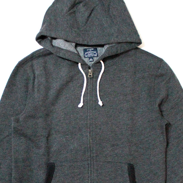 ジェイクルー J.crew:Fleece Full-zip Hoodie/フルジップパーカ Charcoal