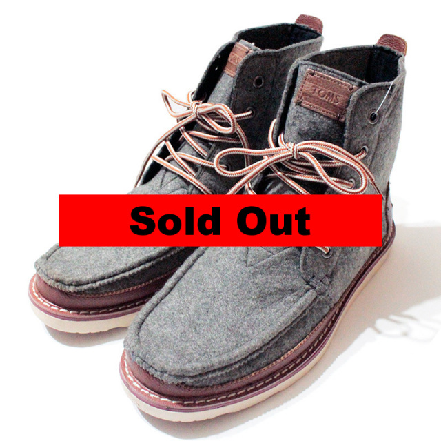 """【Toms/トムス】 """"Searcher Felt Boots/フェルトブーツ"""""""