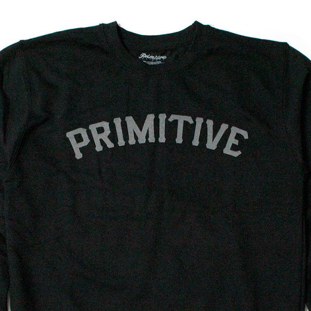 """【Primitive/プリミティブ】 """"Slab Type Reflective Crew Neck Sweatshirt/リフレクタースウェットシャツ"""""""