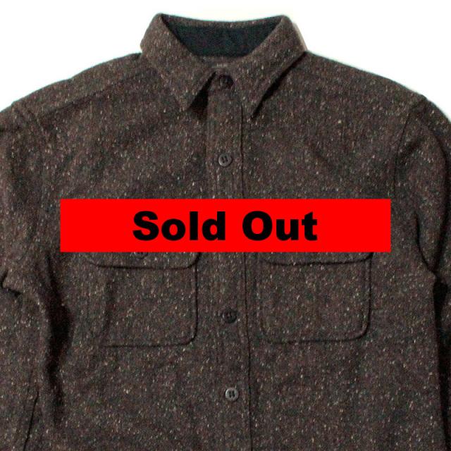 "【RRL/ダブルアールエル】 ""Tweed Work Shirt Brown/ツイードワークシャツ ブラウン"""