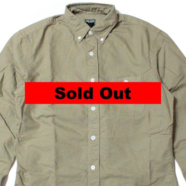"【Todd Snyder/トッドスナイダー】""KHAKI OXFORD SHIRT/ガーメントダイオックスフォードBDシャツ"""