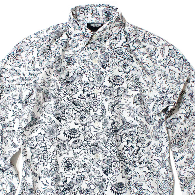 "【Todd Snyder/トッドスナイダー】""FLORAL POPLIN SHIRT/フローラルBDシャツ"""