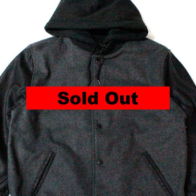 オベイ Obey:Soto Hooded Varsity Jacket Gray/フーデットバーシティージャケット