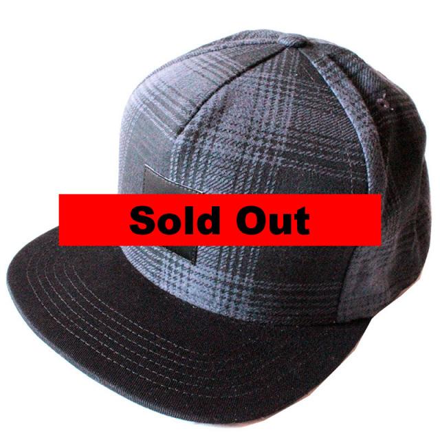 """【HUF/ハフ】 """"Freeman Flannel Snapback Hat Charcoal/フリーマンフランネルスナップバックキャップ"""""""