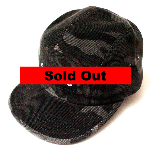 """【Supreme/シュプリーム】""""CORD CAMO CAMP CAP BLACK/コーデュロイカモフラキャンプキャップ ブラック"""""""