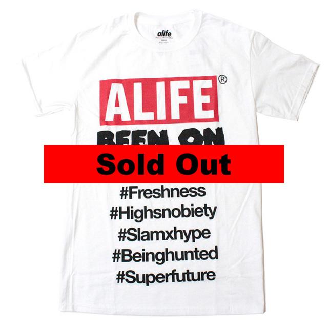 """【Alife/エーライフ】 """"Been On Box Tee White/ビーンオンボックスTシャツ"""""""