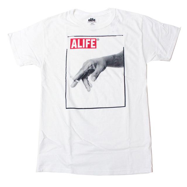 "【Alife/エーライフ】 ""Joint Tee White/ジョイントTシャツ"""