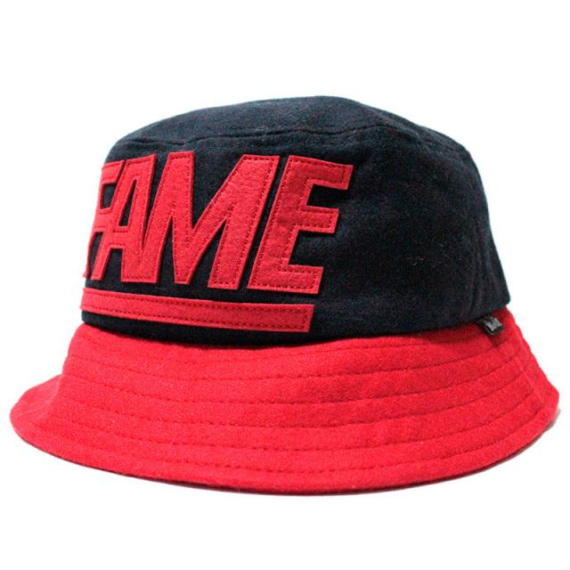 "【Hall of Fame/ホールオブフェイム】 ""Melton Fame Block Bucket Hat Navy/バケットハット ネイビー"""