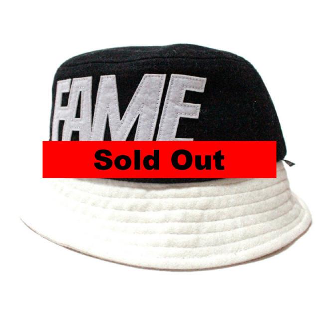 """【Hall of Fame/ホールオブフェイム】 """"Melton Fame Block Bucket Hat Black/バケットハット ブラック"""""""