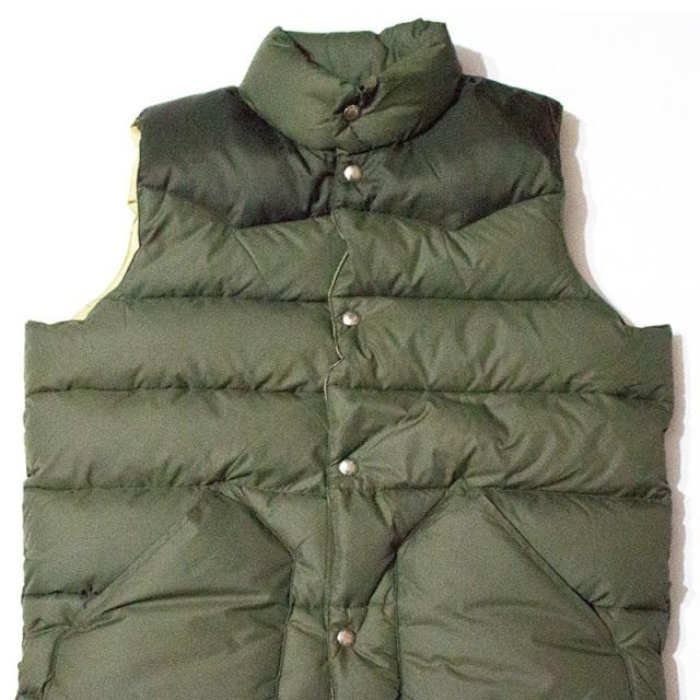 ペンフィールド Penfield:Beekman Vest/Contrast Yoke Down Vest Olive/ビークマン コントラストダウンベスト オリーブ