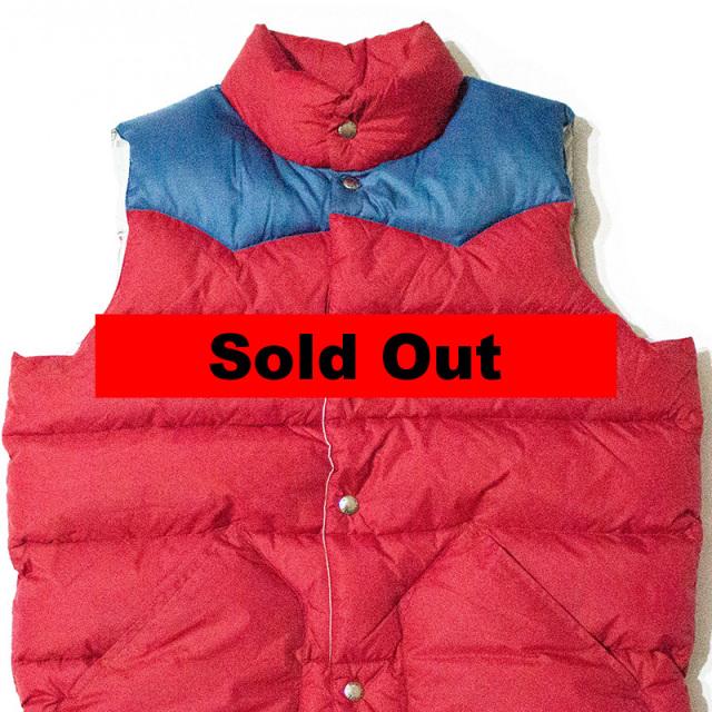 ペンフィールド Penfield:Beekman Vest/Contrast Yoke Down Vest Red/ビークマン コントラストダウンベスト レッド