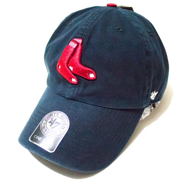 正規取扱店 フォーティーセブンブランド 47 Brand:RED SOX '47 CLEAN UP Navy/クリーンアップキャップ