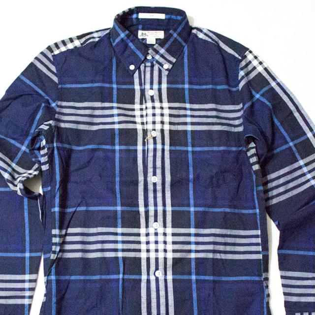トーマスメイソン ジェイクルーTHOMAS MASON for J.CREW:SLIM FLANNEL SHIRT MIDNIGHT PLAID/フランネルプラッドシャツ ミッドナイト