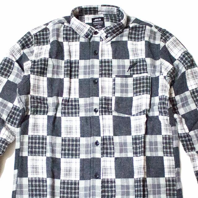 パブリッシュ Publish:Norman Patchwork Flannel BDShirt/パッチワークフランネルシャツ