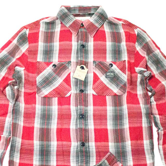 デニムアンドサプライ Denim&Supply:WARD RED PLAID COTTON TWILL SHIRT Red/レッドプラッドツイルワークシャツ