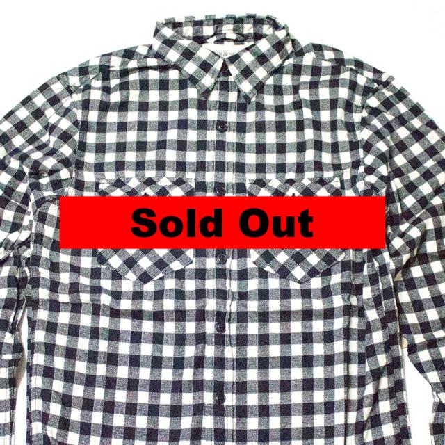 デニムアンドサプライ Denim&Supply:WARD PLAID COTTON WORKSHIRT/プラッドワークシャツ モノトーン