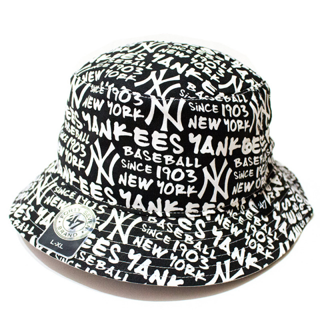 47 Brand:Yankees '47 Fat Cap Bucket White