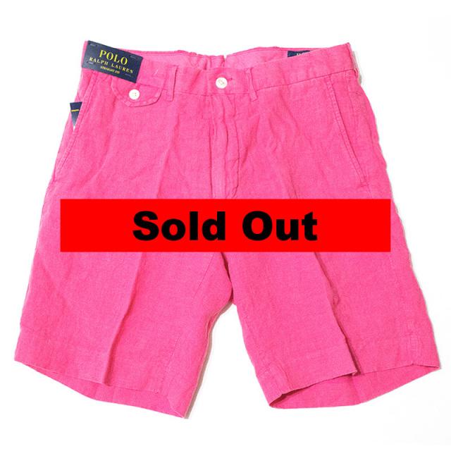 ポロ ラルフローレン Polo Ralph Lauren:STRAIGHT-FIT LINEN SHORT Pink/リネンショーツ ピンク