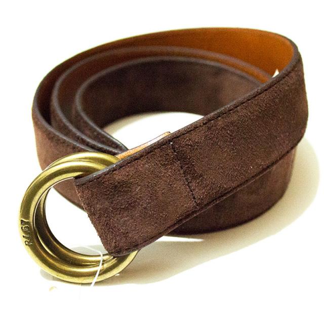 ポロ ラルフローレン Polo Ralph Lauren:Suede Ring Belt ESPRESSO/スエードリングベルト ダークブラウン