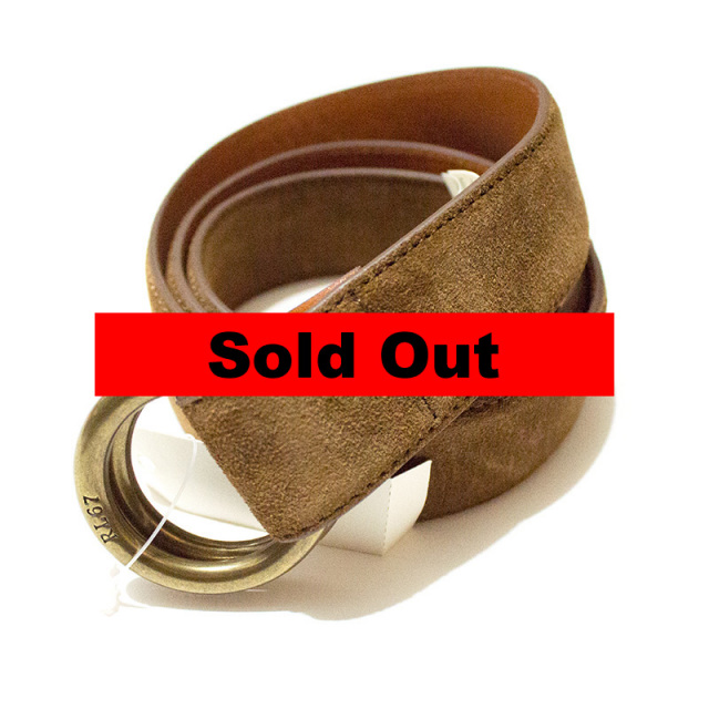 ポロ ラルフローレン Polo Ralph Lauren:Suede Ring Belt CACAO/スエードリングベルト ライトブラウン
