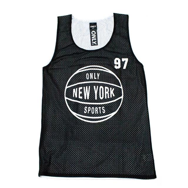 オンリーニューヨーク ONLY NY:Blacktop Mesh Tank/メッシュタンクトップ
