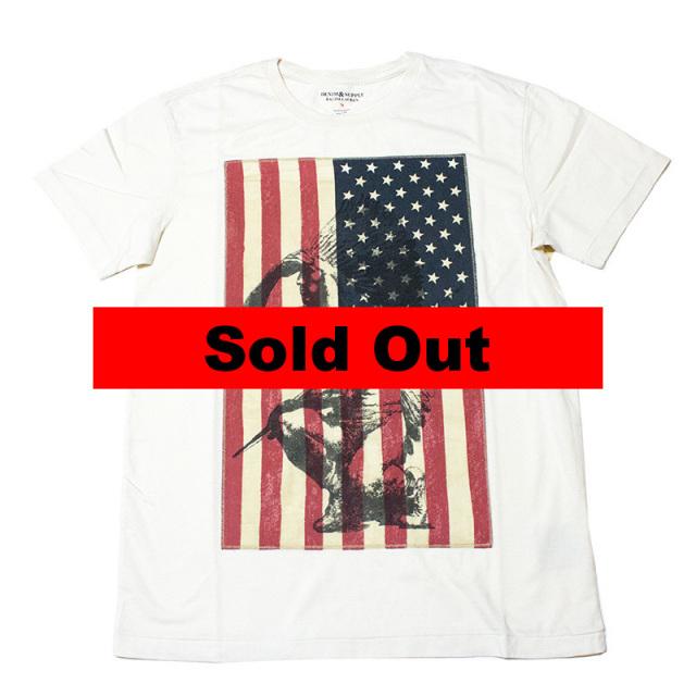 デニムアンドサプライ Denim&Supply:FLAG PATCH COTTON TEE/フラッグパッチTシャツ