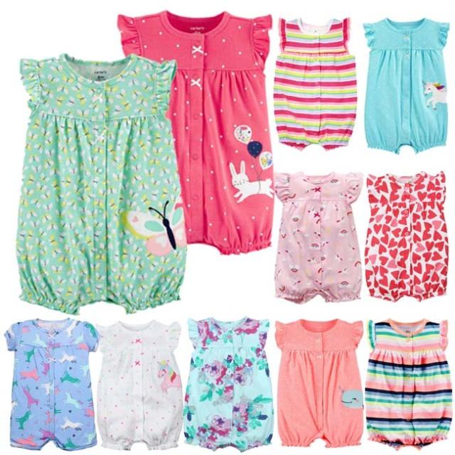 送料無料 カーターズ Carter's 半袖 ロンパース カバーオール ベビー服 女の子 6m 9m 12m 18m かわいい 新生児 乳幼児 カバーオール