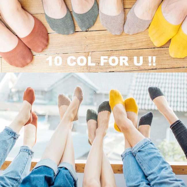 大人靴下まとめ買い対象  浅履き フットカバー パンプス 靴下  レディース 22-24cm 10カラー 無地