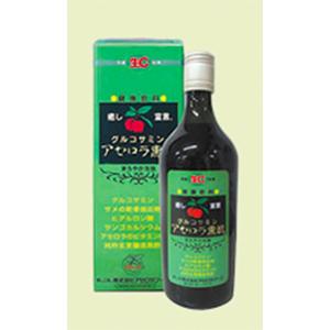 グルコサミンアセロラ黒酢 (720ml×6本)  【1本あたり 2160円お得!】