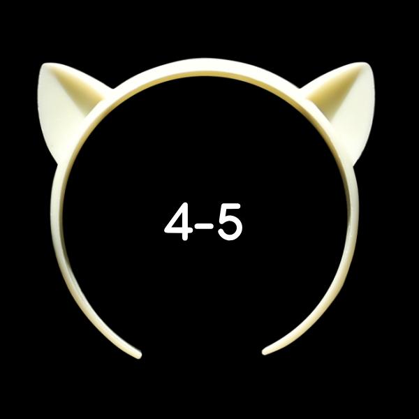 ねこみみカチューシャ 4-5インチ(ライトクリーム)
