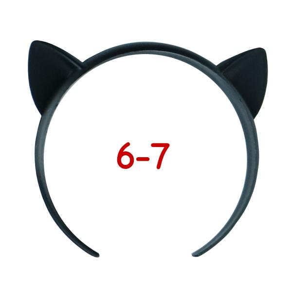 ねこみみカチューシャ 6-7インチ(ブラック)