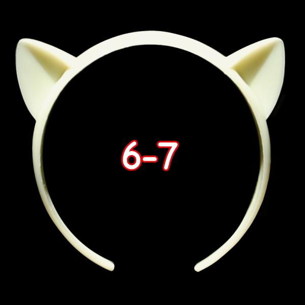 ねこみみカチューシャ 6-7インチ(ライトクリーム)