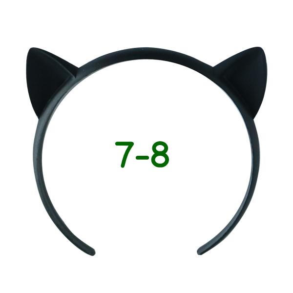 ねこみみカチューシャ 7-8インチ(ブラック)