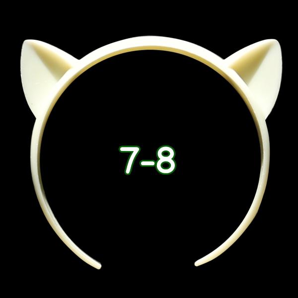 ねこみみカチューシャ 7-8インチ(ライトクリーム)