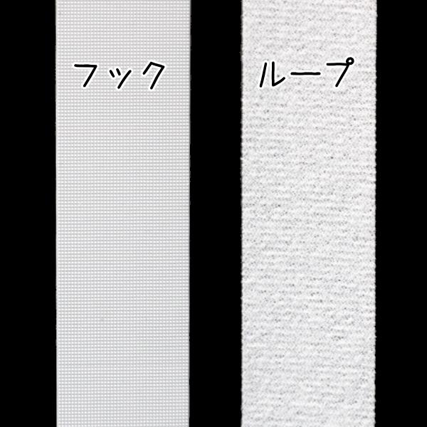 のりなし/メカニカルファスナー 幅2.5cm×長さ20cm(ホワイト) [薄地面ファスナー]