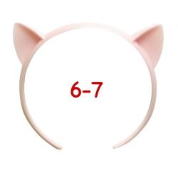ねこみみカチューシャ 6-7インチ(ライトピンク)