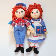 "<撮影使用>13"" Raggedy Ann and Andy Poseable Dolls [ラガディアン&アンディ]"