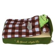 ティッシュカバー ベッド(チェック)/かえるのピクルス
